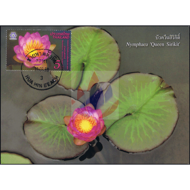 Thailand 2016 Bangkok Lotus Flower Queen Sirikit Maximum Card