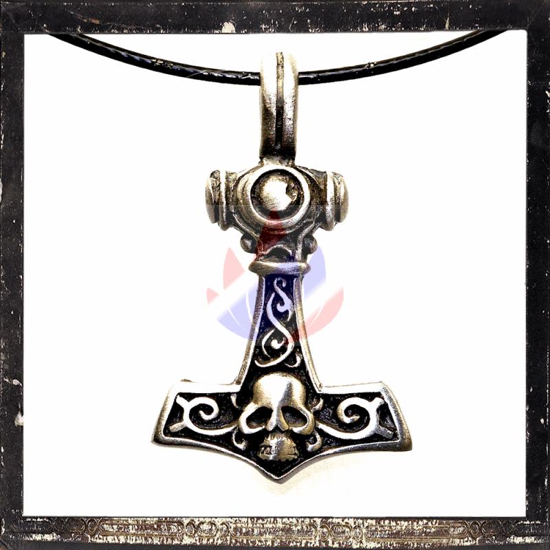 thor s hammer mit keltischen ornamenten und totenkopf 5 03. Black Bedroom Furniture Sets. Home Design Ideas