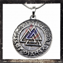 2-sided amulet with characters
