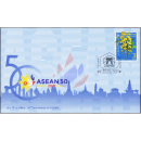 50th Anniversary of ASEAN: Thailand - Golden Shower -FDC(I)-
