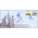 55 Y. of diplomatic relations with Russia: architectural monuments -FDC(I)-
