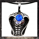 Egyptian Cobra with BLUE polished glass stone on the head