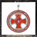 Amulet with the cross of the Crusaders as RED inlay