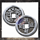 Chinese lucky coin in the form of a pendant without...