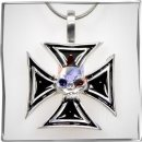 Iron Cross with black inlay and skull