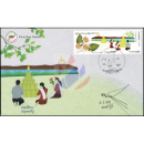 Festivals in Myanmar: Sand Pagoden Festival -FDC(I)-IU-