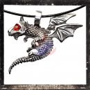 Flying dragon with RED cut glass stone as eye