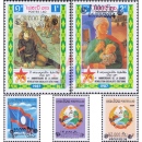 Definitive stamps: Historic issues with overprint by hand