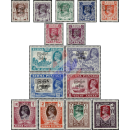 Definitive stamps: King George VI with imprint
