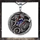 Lucky pendant having 3 symbols for happiness and...