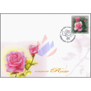 Greeting Stamp: Rose Bluenile -FDC(I)-