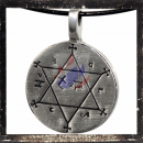 Hexagram with mantra