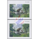 Indian elephant (36A-36B) -PERFORATED / IMPERFORATED-