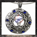 Celtic pendant with 6 BLUE glass stones and ornaments