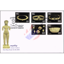 Khmer Culture: Khmer Angkor Era Jewelry Gold Set -FDC(I)-