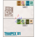 Nationale Briefmarkenausstellung THAIPEX 1981 -FDC(I)-