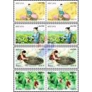 Mulberry cultivation and Silk -PAIR- (MNH)