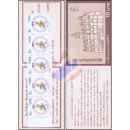 Songkran-Day 1992 MONKEY (1493A) -STAMP BOOKLET-