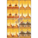 Vesak-Day 2019: Stupas (II) -BLOCK OF 4- (MNH)