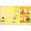 Vesak-Day 2019: Stupas (II) -FDC(I)-IT-