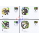 Worldwide Nature Conservation: Handed Gibbon WWF -FDC(II)-