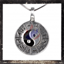 Yin and Yang Pendant with Zodiac Signs